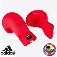 Перчатки Адидас для Каратэ WKF красные.
