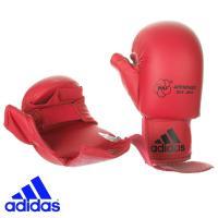 Перчатки Адидас для Каратэ с защитой большого пальца красные.