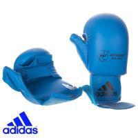 Перчатки Адидас для Каратэ с защитой большого пальца синие.
