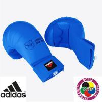 Перчатки Адидас для Каратэ WKF синие.