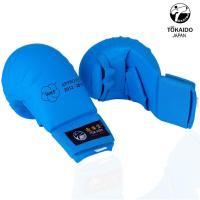 Перчатки Токайдо для Каратэ с защитой большого пальца. Цвет синий.