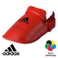 Защита подъёма стопы для Каратэ Адидас красная.