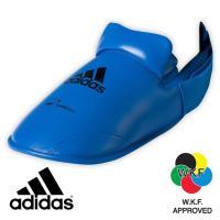 Защита подъёма стопы для Каратэ Адидас синяя.