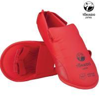 Защита подъёма стопы для Каратэ. Токайдо. Цвет красный.