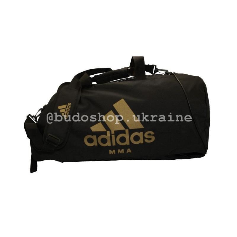 72bd763e499d Спортивная сумка - рюкзак Adidas - MMA. Black / Gold.